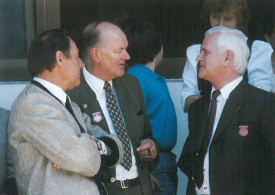 1987 - Bezirksmänner des Unterinntales im Gespräch: v.Li.: Ludwig Fender † (Schwaz) Ing. Sebastian Exenberger † (Kufstein) Sepp Fischer † (Rattenberg)