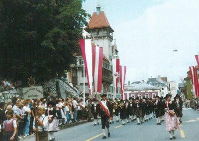 Die Jungmusikkapellen Kufstein beim Bezirksmusikfest 1983